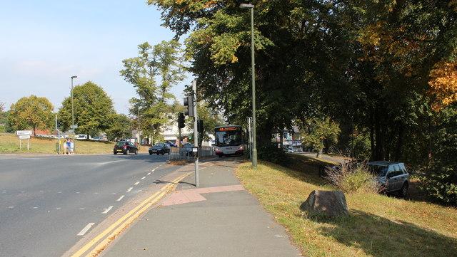 Bus lane, Link Top, Malvern