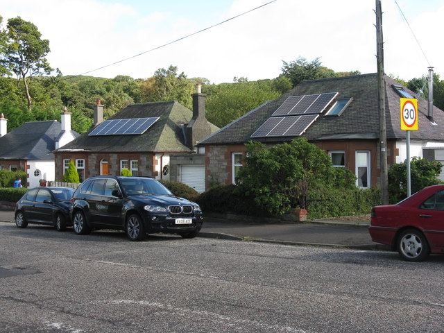 Solar panels on buckstone terrace m j richardson cc by for 55 buckstone terrace edinburgh