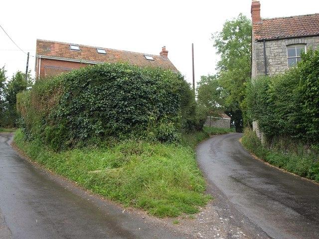Lane junction, Panniers Farm