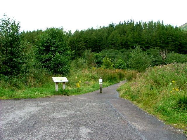 Start of the An Torr woodland walk