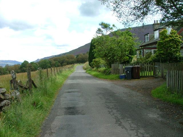 South Loch Earn road at Carstran
