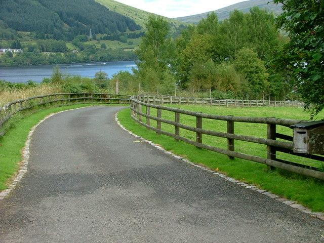 Driveway to Edinample House