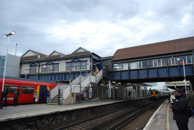 Footbridge, Clapham Junction