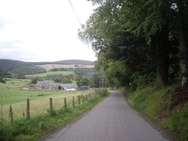 B9002 between Craig Castle and Milton of Auchindoir