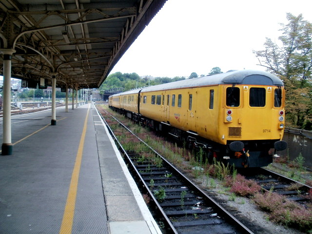 Weeds and yellow carriages, Bristol Temple Meads