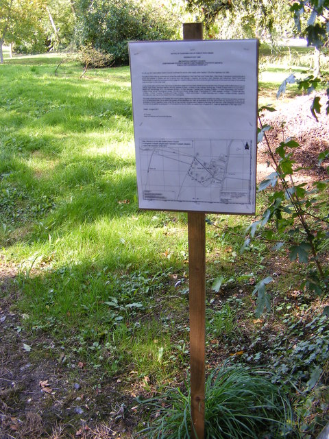 Footpath Amendment Notice on the footpath to Bird's Lane