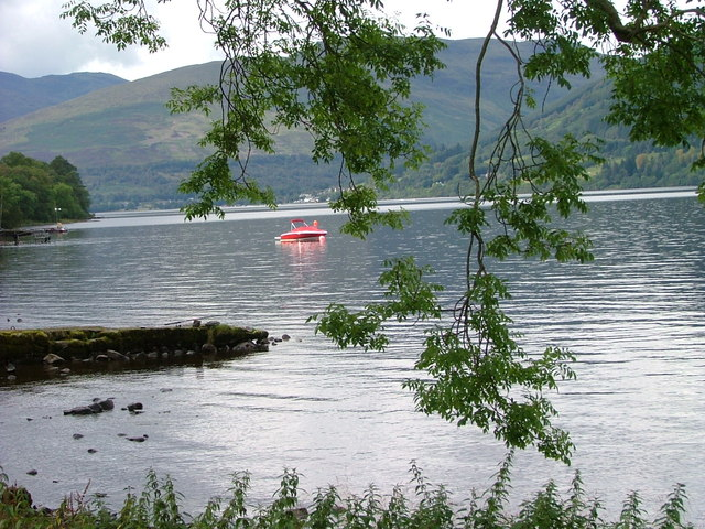Boat and jetty on Loch Earn