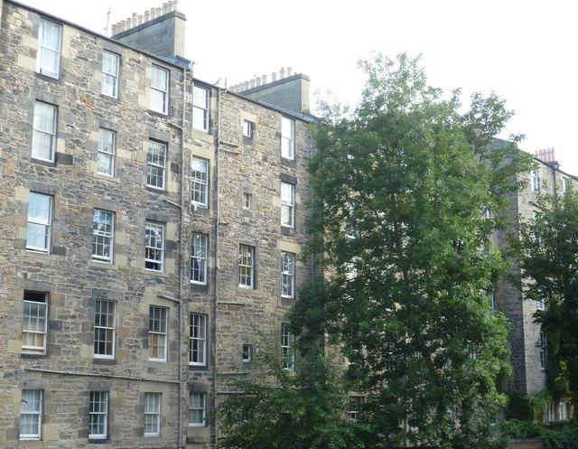 Tenement backs, Gayfield Square