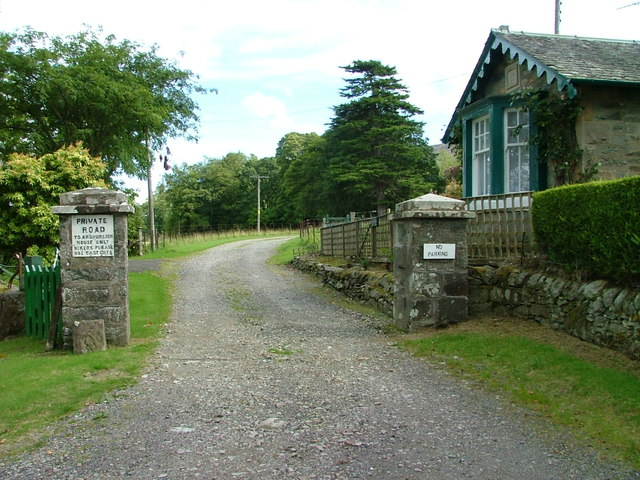 Entrance to Ardvorlich House