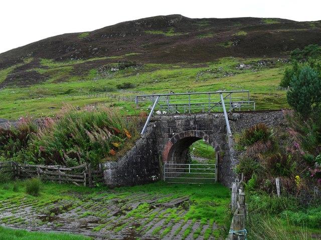 Rail Bridge and Hillside