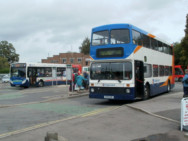 Stagecoach double decker at Abergavenny Bus Station