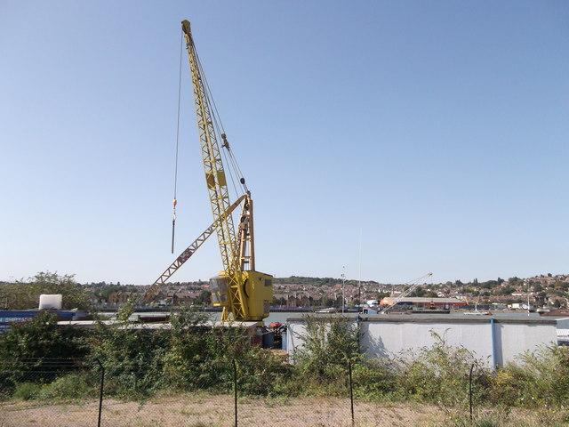 Yellow Tower Crane, Acorn Shipyards