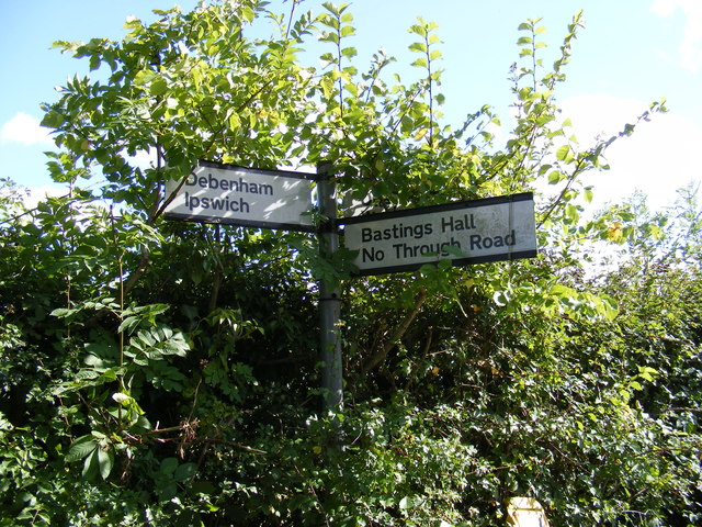 Roadsign at the Bastings Hall junction on Otley Road