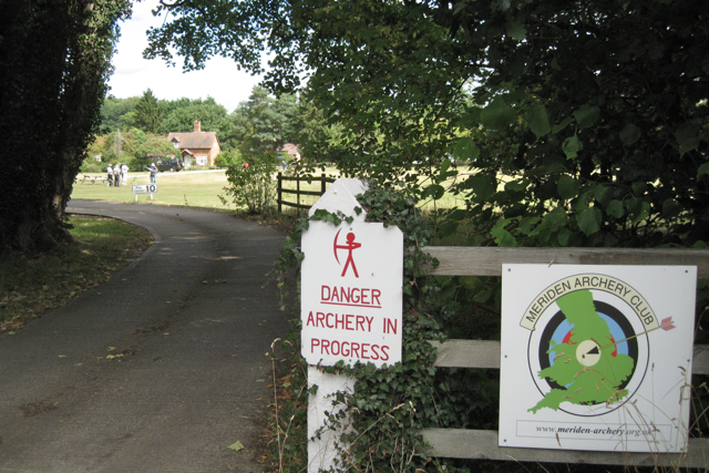 Entrance to Meriden Archery Club