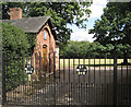 SP2382 : Gates and former workshop, Forest Hall by Robin Stott