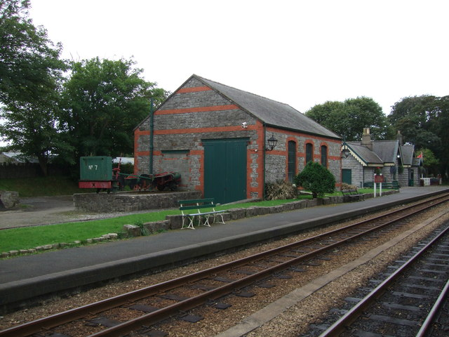 Shed at Castletown Railway Station