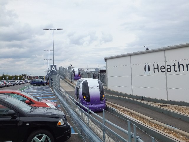 The pods of the personal rapid transit system