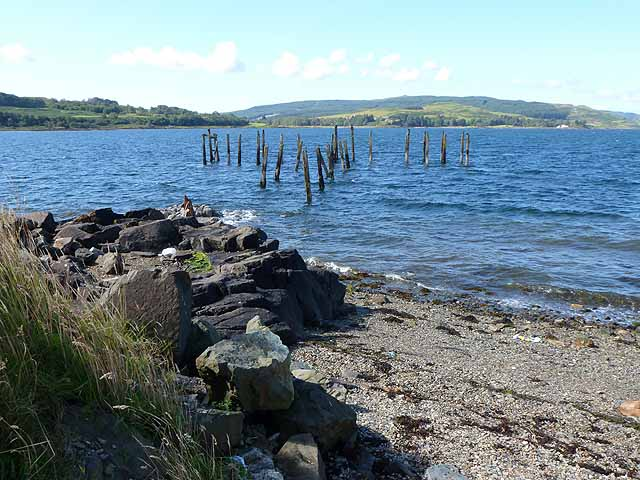 Remains of Salen Old Pier