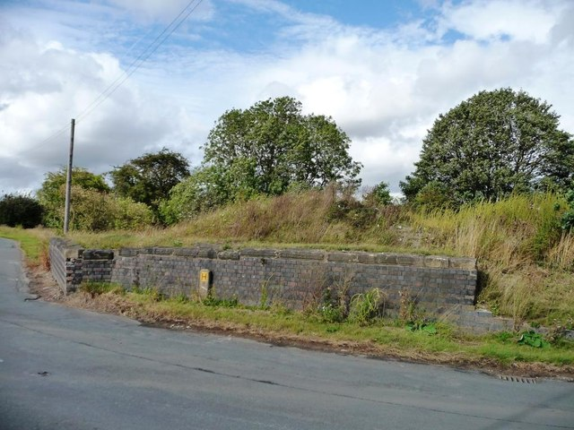 Remains of former railway bridge abutments