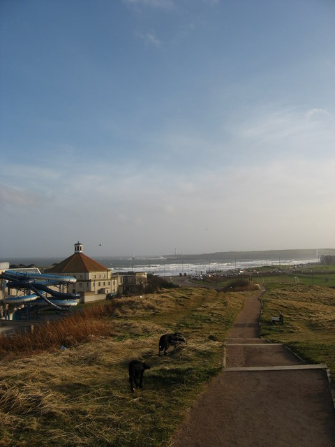 Beach Ballroom & Prom from the Broad Hill