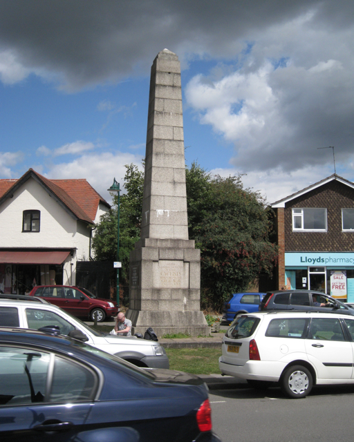 Cyclists' war memorial on the Green