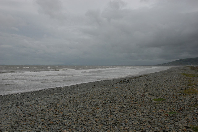 Shingle on Fairbourne beach