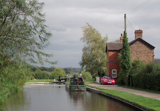 Trent and Mersey Canal near Aston-by-Stone, Staffordshire
