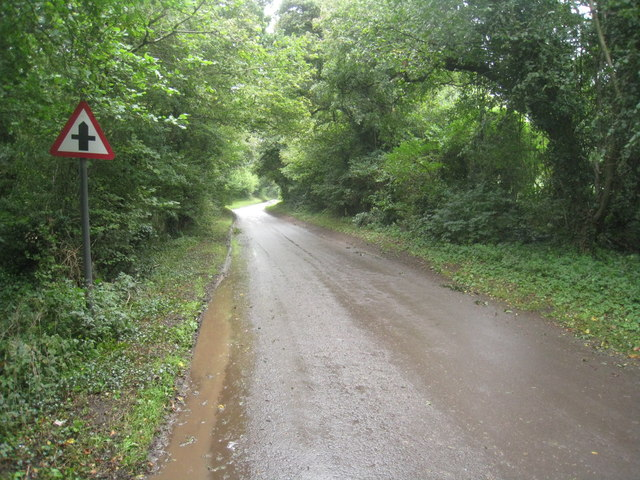 Approach to Hatch Gate crossroads