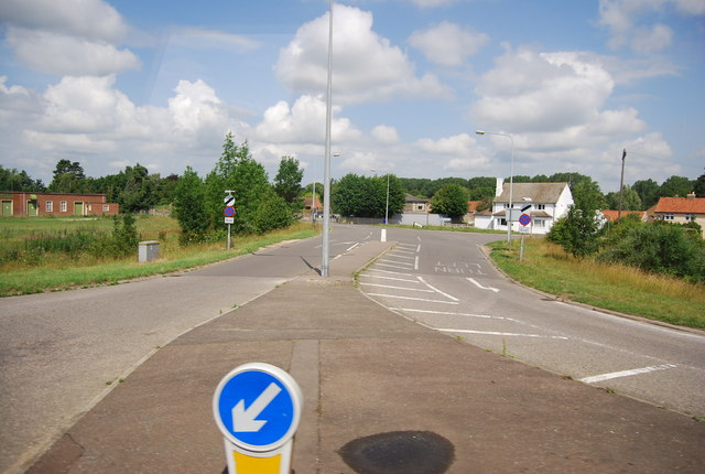 Road into Barton Mills off A11