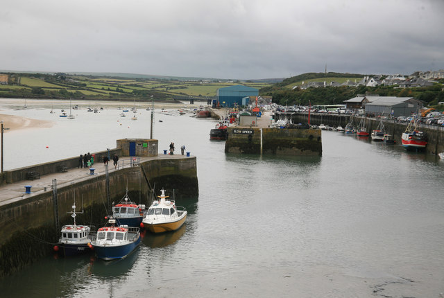 Padstow Harbour in the rain