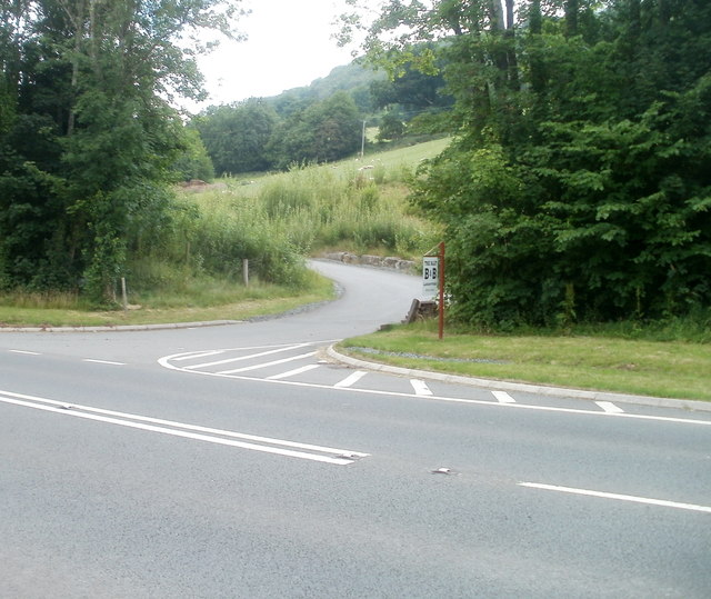 Access road to The Allt B&B, Llansantffraed