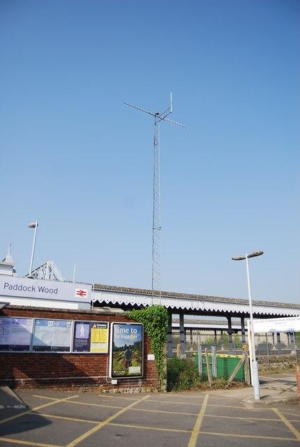 Telecommunication Mast by Paddock Wood Station