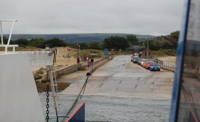 Ferry slipway at Shell Bay