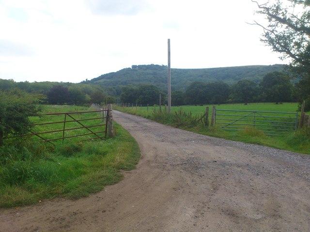Farm entrance to Lower Chancton Farm
