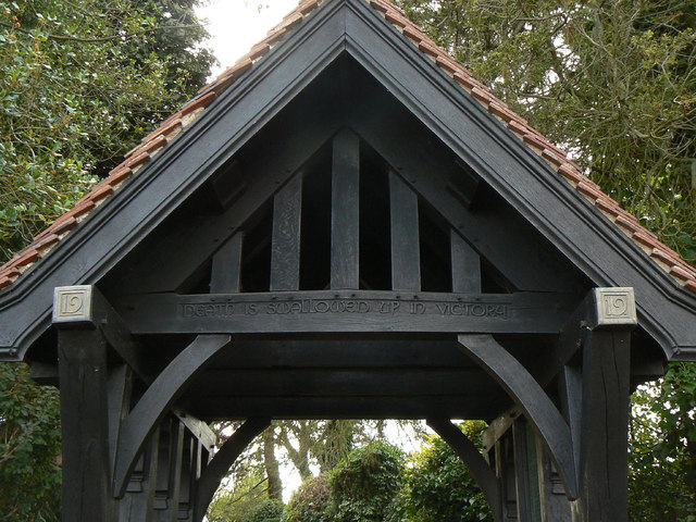 Cropwell Butler Cemetery lych gate