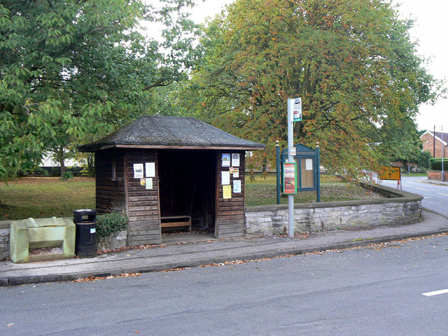 Bus stop, The Green, Cropwell Butler