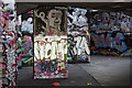 TQ3080 : South Bank graffiti by Richard Croft