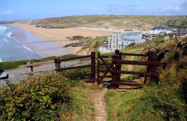Gate on the Southwest Coast Path