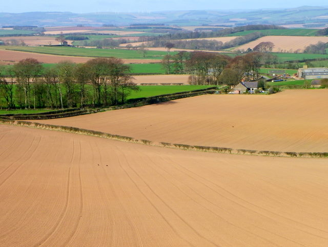 Ploughed field near Burnmouth