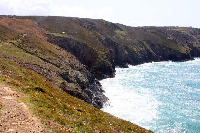 Cliffs looking towards Cligga Point