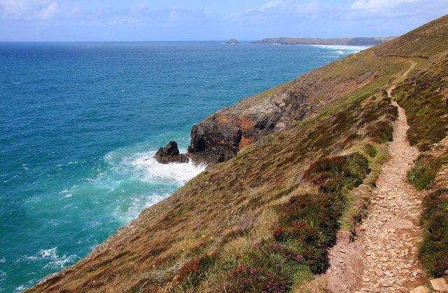 The Southwest Coast Path at Perranporth