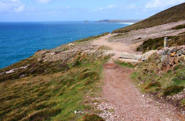 The Southwest Coast Path at Perranporth