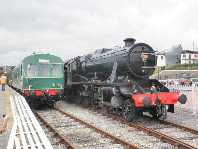 Rush hour, at Hood Street Railway station, Barry Docks