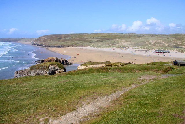 The Southwest Coast Path in Perranporth