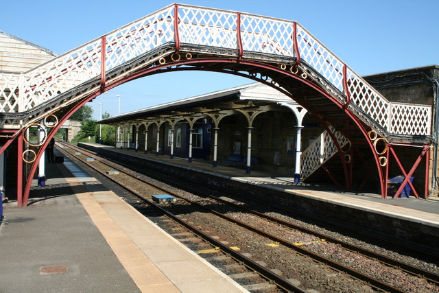 Footbridge at Hexham Railway Station.