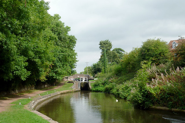 Trent and Mersey Canal at Meaford Locks, Staffordshire