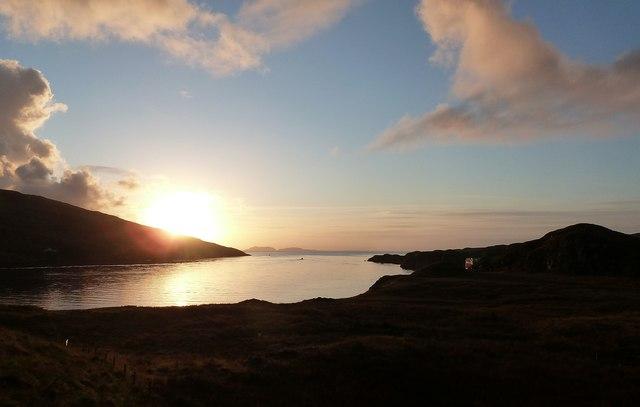 Sunrise over Caolas Sgalpaigh