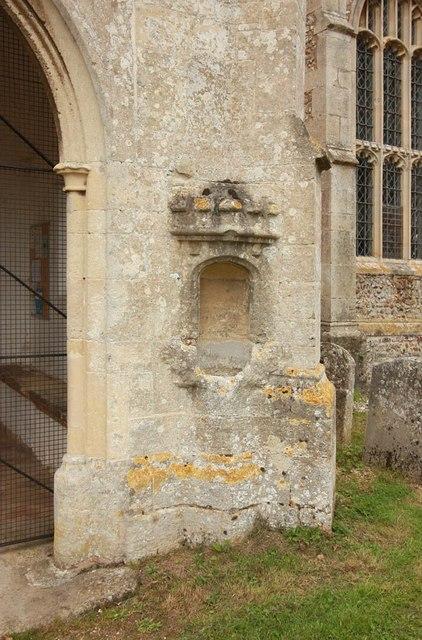 St Nicholas, Denston - Stoup