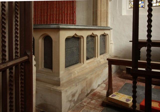St Nicholas, Denston - Tomb chest