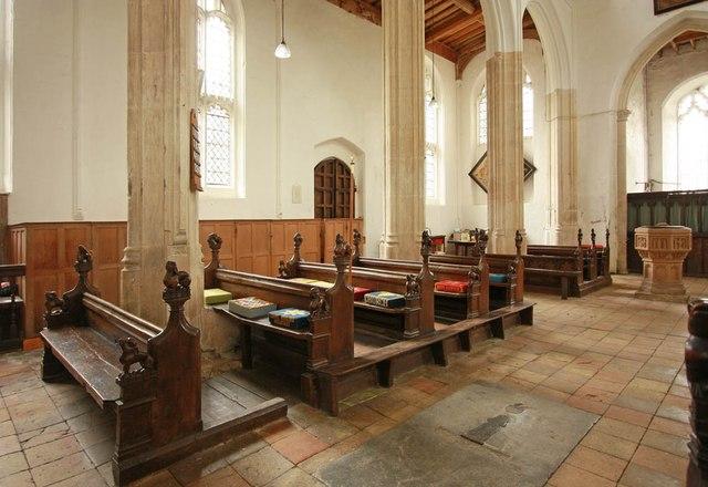 St Nicholas, Denston - Pews